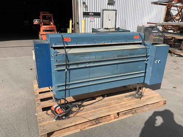 "Used 60"" ROSENTHAL SHEETER W/ 3"" AIR SHAFT AND SCORE SLITTING"