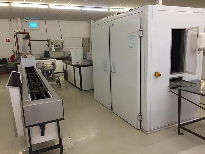 Used Hacos JD720 chocolate moulding line