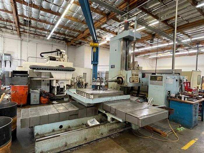 Used FEMCO CNC HORIZONTAL BORING MILL WBNC-100R2 80 x 71 xy FANUC 11M  #5862