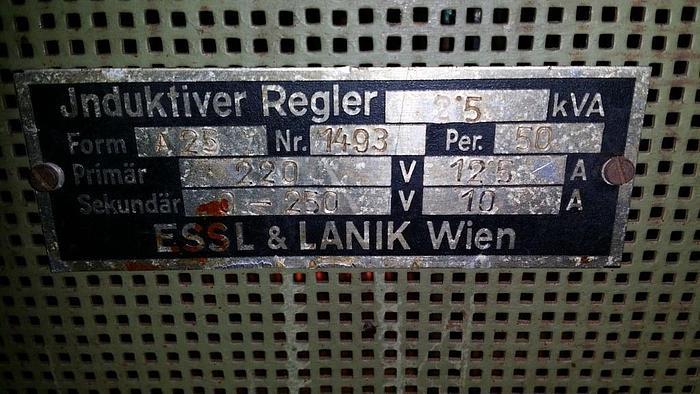 Gebraucht Sehr alter Induktiver Regler - Sammlerstück  Essl & Lanik Wien,  Bj. ca.1920