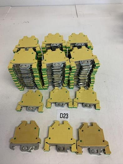 Used Large Lot  WK4SL/U Green Yellow Wire Terminal Wieland (78 Pieces) Fast Shipping!