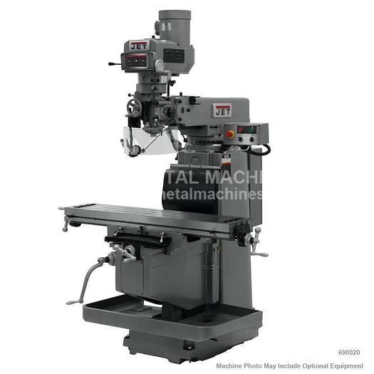 JET JTM-1254RVS Variable Speed Vertical Mill Machine 230/460V 3Ph 690020