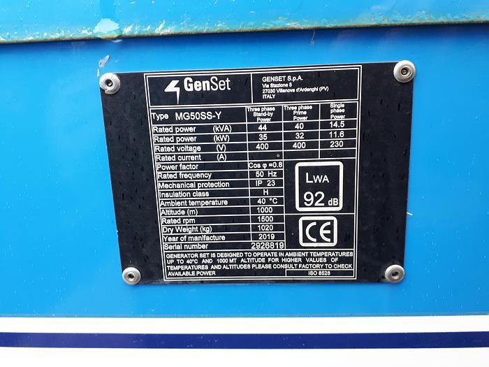 2019 Genset MG 50 SS-Y