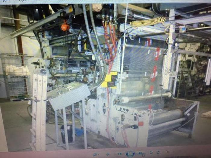 """Used 55"""" (1.40M) CMF 6 COLOR STACK PRESS FRONT & BACK PRINTING"""