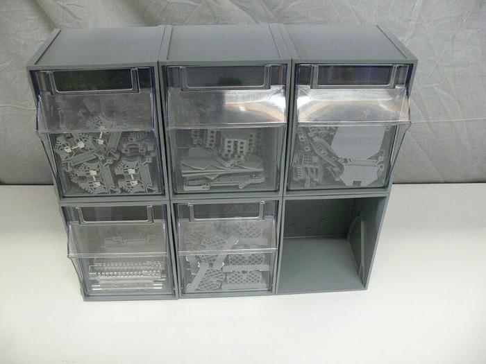 Used Drawers with lot of Terminal Blocks & Contacts