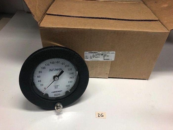 "New Ashcroft 300psi 4-1/2"" Test Gauge 45-1082-AS-02B"