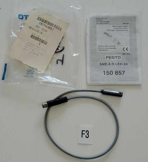 *NEW* Festo SME-8-S-LED-24 Proximity Switch Sensor 250 VDC 230VAC 3-Pin150857
