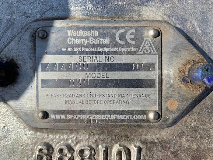 Waukesha Model 30 Positive Displacement Pump