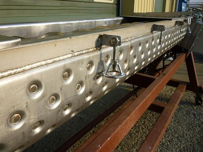 """USED DRYER / COOLER, HOLOFLITE, SCREW, 12"""" DIA. X 10' LONG, 316 STAINLESS STEEL, JACKETED"""