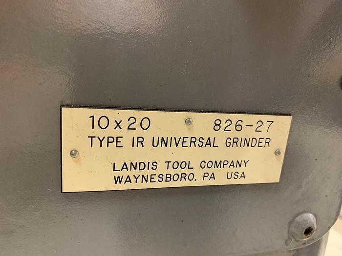 "LANDIS TYPE 1R UNIVERSAL 10"" X 20"" OD GRINDER"