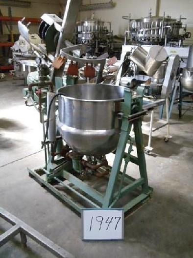 Used 40 Gallon Jacketed Double-Motion Agitated Kettle