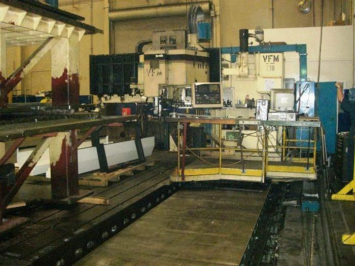 "Giddings & Lewis Vertical Machining Center, X=196"" Y=72"" RPM 20-2000, Fanuc 11M"
