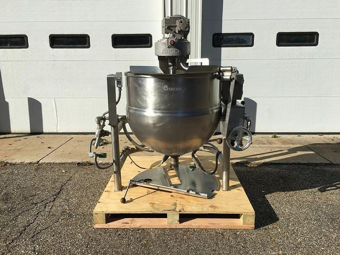 Used 60 GALLON GROEN DTA /3-60 KETTLE – S/S – JACKETED (#9346)