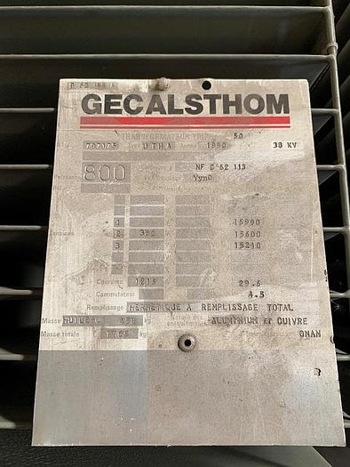 1990 Alsthom KVA: 800