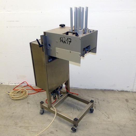 Gebraucht gebr. Tray-Entstapler in Edelstahlausführung für Pralinen-Kapseln aus Papier.