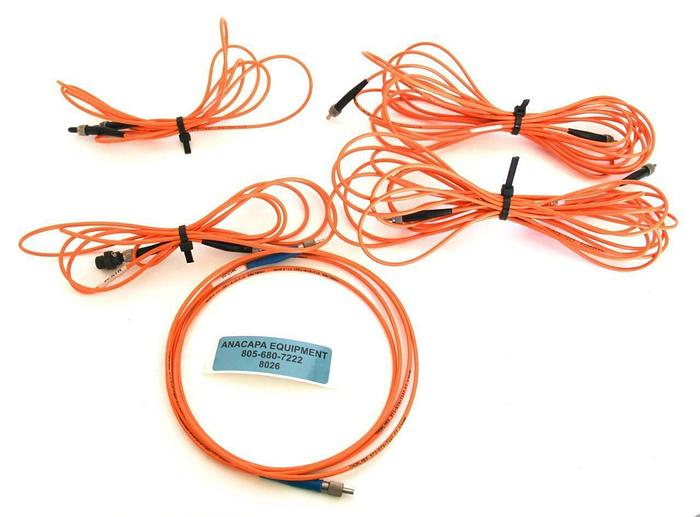 Used Thorlabs FT 030MM, FG-200-LCR, M17L02, M17L05 Fiber Optic Cable Lot of 5 (8026)W