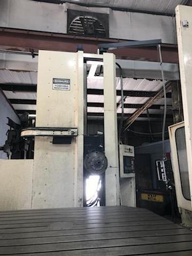 "Used 1990 5.12"" CNC Toshiba Table Type Horizontal Boring Mill, BTD 13F,R22, Table Size 70.8"" X 86.6"", X - 119"", Y - 90.5"", 40HP, 2500 RPM, Tosunc 888 CNC"