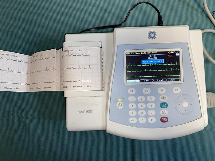 Gebraucht GE Mac 600 EKG System mit 10 adriges EKG Kabeln