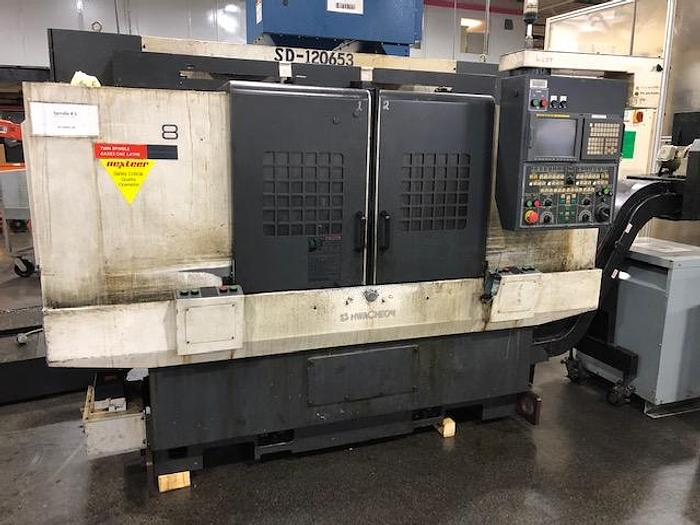 2007 HWACHEON TTC-8 TWIN SPINDLE/TWIM TURRET CNC LATHE