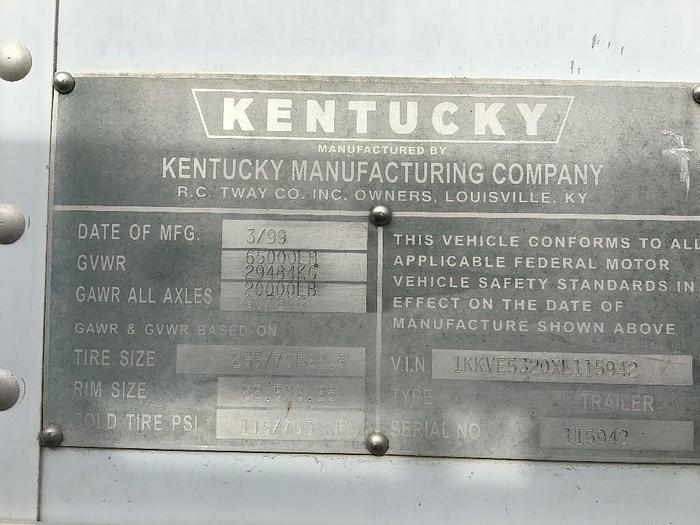 1999 KENTUCKY MOVER BOX