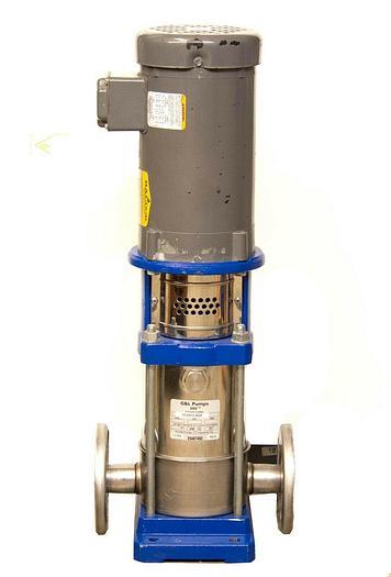 Used Goulds 1SVB1E4D0 SSV Multi-Stage Vertical Booster Pump w/ Baldor VM3555 (7271)R