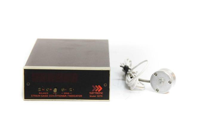 Used Omegadyne LCGB-2K Daytronic Load Cell 2K & Daytronic 3270 Strain Gage (4445)