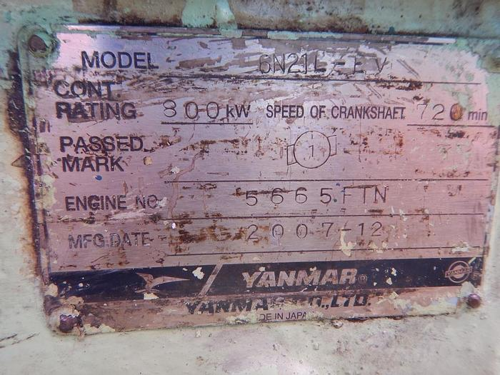 Used Yanmar 6N21L-EV marine generators
