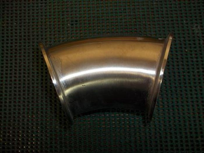 """Used 3"""" Stainless Steel 45 degree elbow - Stainless Fittings Equipment"""