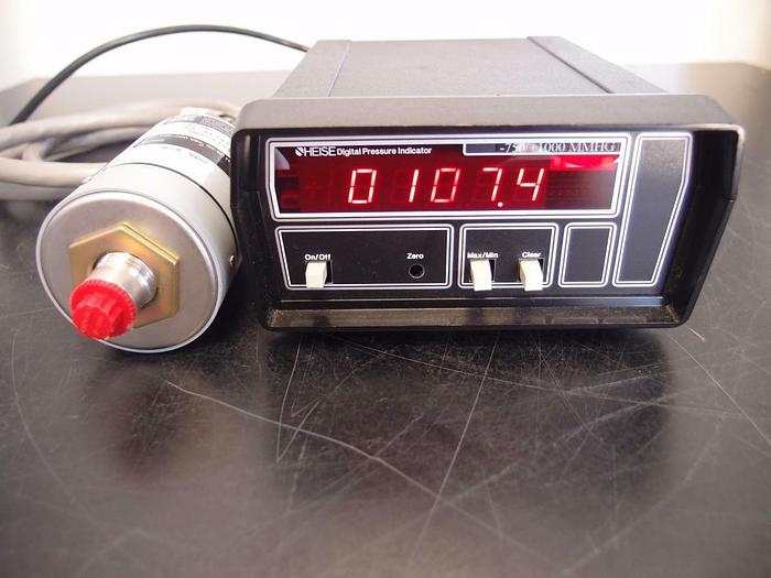 Used Heise 901A Transducer with Digital Pressure Indicator -750/+1000 MMHG (3093)