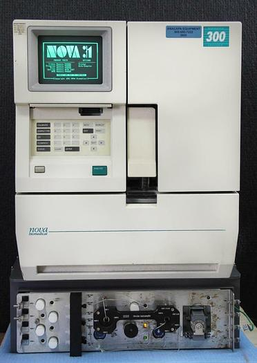 Used Nova Biomedical BroProfile 300 Analyzer On-Line AutoSampler Fully Automated 5605