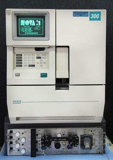 Used Nova Biomedical BroProfile 300 Analyzer On-Line AutoSampler Fully Automated 5605