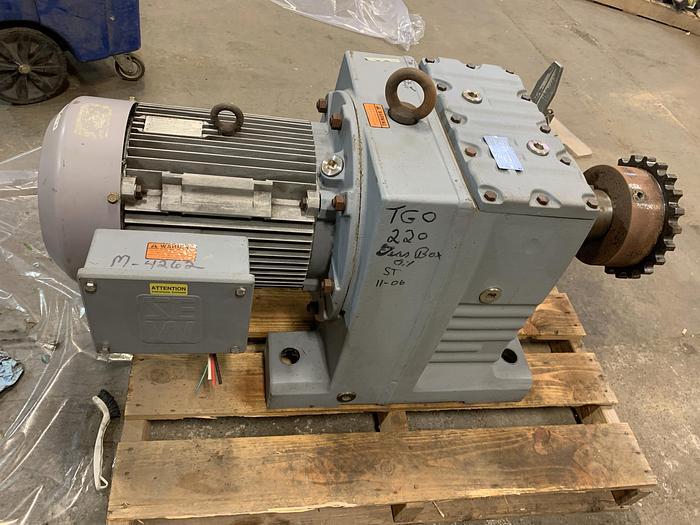 Used 11 RPM 20HP gear motor,