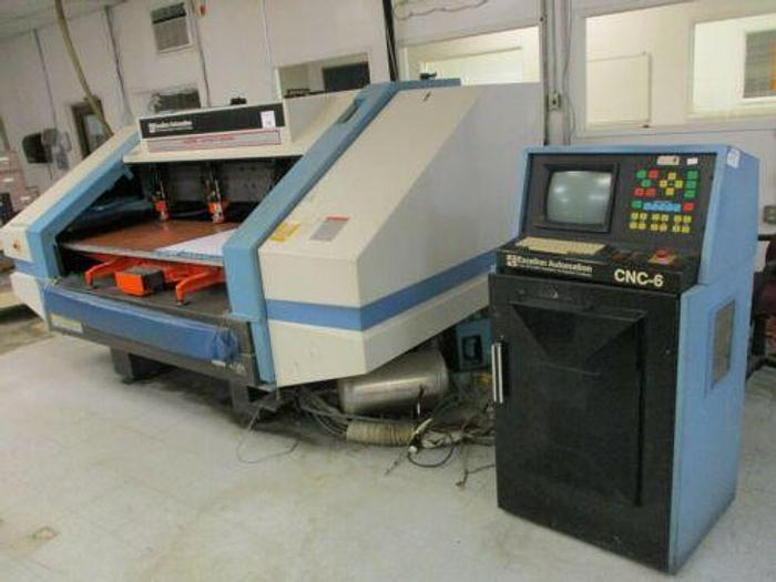 Used EXCELLON MARK VI C 4 HEAD DRILLING MACHINE WITH CNC 6 CONTROL 110K RPM SPINDLES