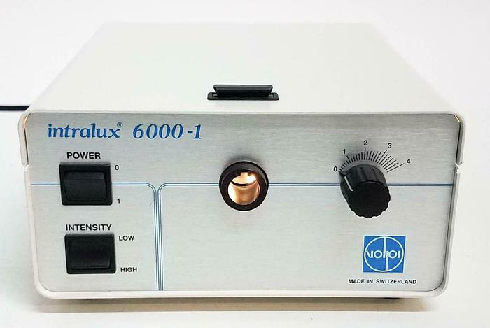 Used Intralux 6000-1 Light Source Microscope Fiber Optic Illuminator NEW Lamp 4986