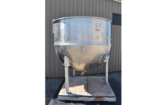 USED 360 GALLON JACKETED TANK (KETTLE), STAINLESS STEEL