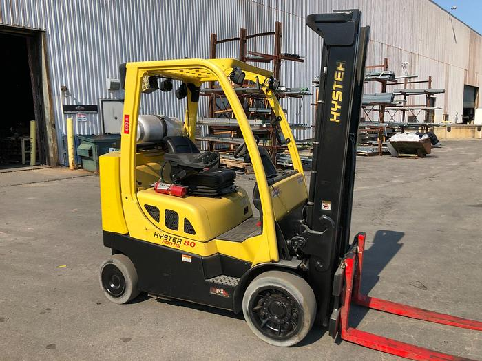 Used 8,000 POUND HYSTER MODEL S80FTBCS MFG. 2014 3,900 HOURS