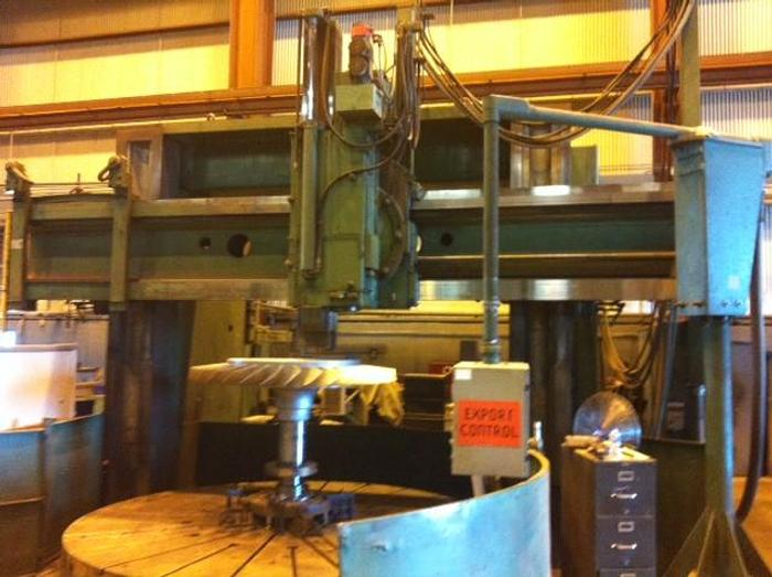 "144"" Gray CNC Vertical Boring Mill, 160"" Swing, 50 RPM, Fanuc OT"