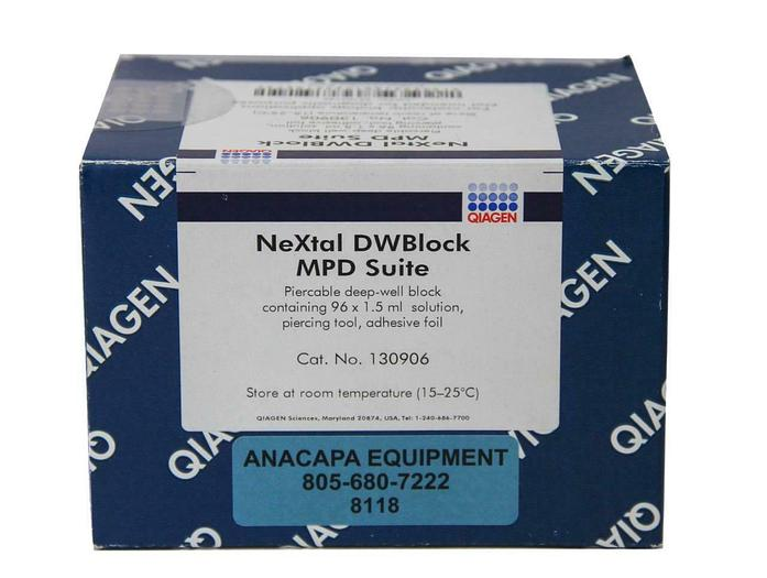 Qiagen 130906 NeXtal DWBlock MPD Suite Pierceable Deep-Well Block 96x1.5ml (8118