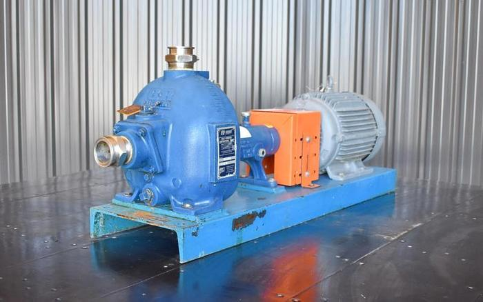 "USED GORMAN RUPP CENTRIFUGAL PUMP, 2"" X 2"" INLET & OUTLET, CAST IRON, SELF-PRIMING"