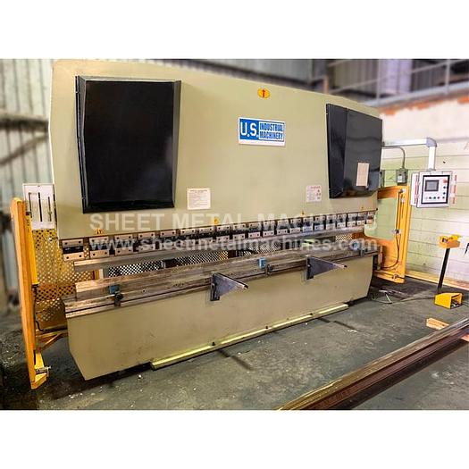 Used PRE-OWNED U.S. INDUSTRIAL 13' x 200 Ton 2-Axis CNC Press Brake with Mechanical Crowning USHB200-13