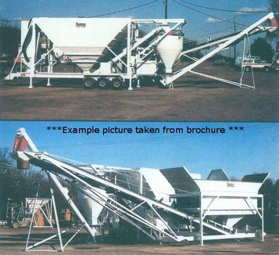 Used Stephens Portable Low Profile Concrete Batch Plant