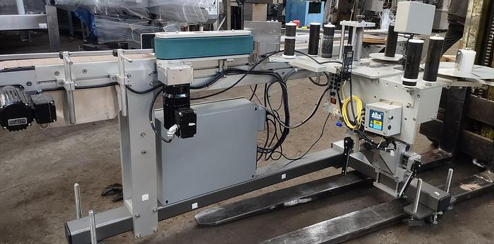Used LSI model 1400 wrap pressure sensitive labeler