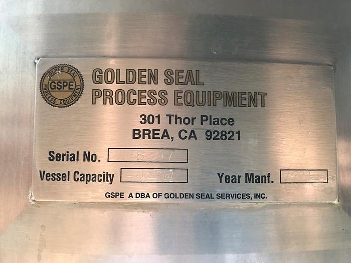 400 Gal Golden Seal Process Equipment Stainless Steel Tanks