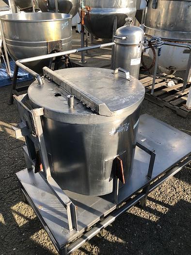 60 Gallon Vertical Stainless Steel Tank