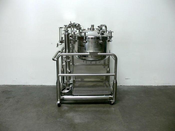 Used Sommer & Strassburger 125L Pressure Vessel / Reactor on Rolling Cart