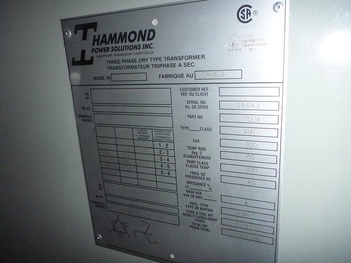 Used HPS 300 KVA Transformer