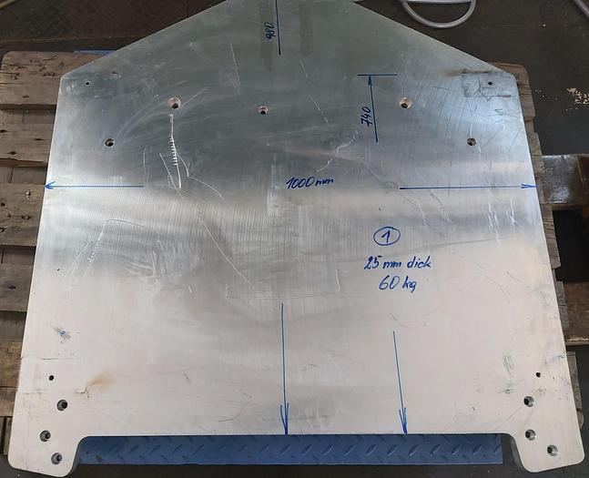 Gebraucht Aluminiumplatten, Konstruktionsalu, Preis -65%, gemäß Fotos,  gebraucht