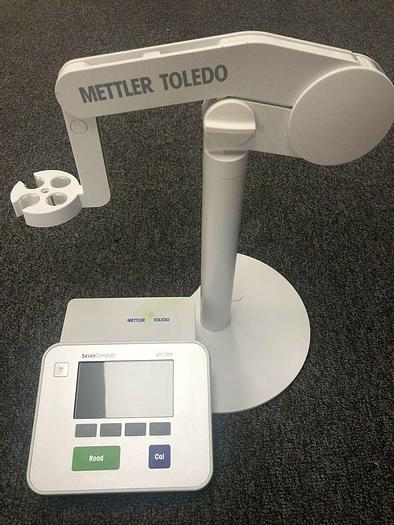 Used Mettler Toledo S220 Sevencompact pH/Ion Table Meter W/ Electrode Holder