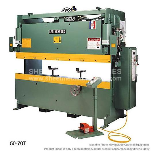 BETENBENDER 10' x 50 Ton Hydraulic Press Brake Model 10-50