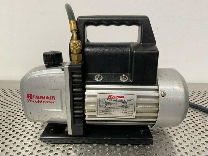 Used Robinair 15310 Single Stage Vacuum Pump 3 CFM w/ Pressure Gauge